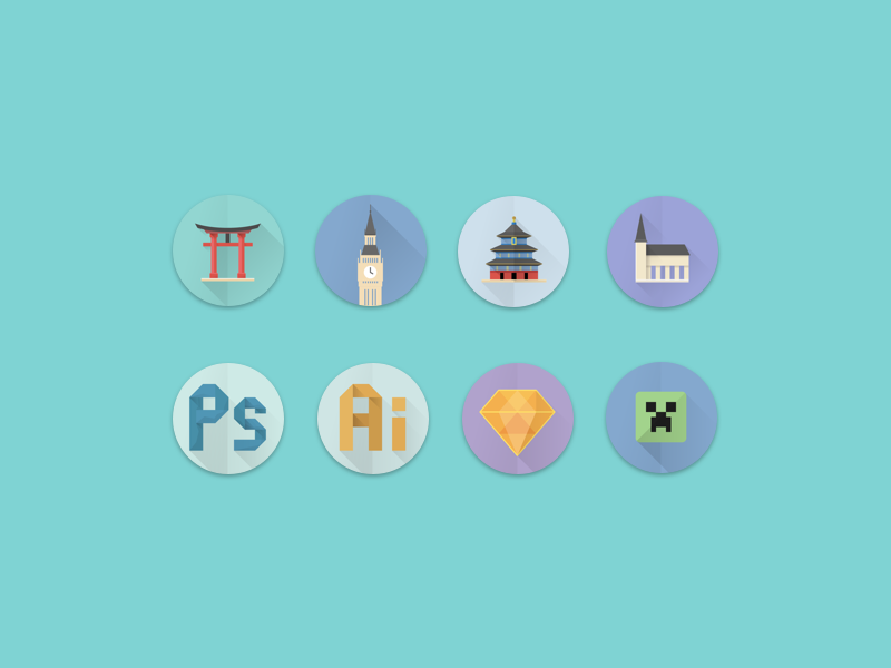 Icons creeper minecraft sketch logo illustration graphic design icon