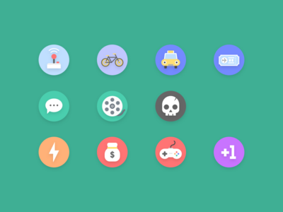 Some icons from an unpublished puzzle game