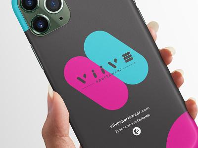 VIIVE ui ux illustration type flat logo typography branding icon logotipo