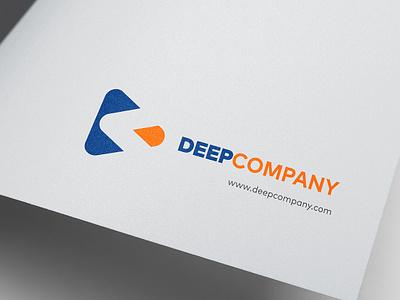 Branding Deepcompany flat typography icon logo logotipo design branding