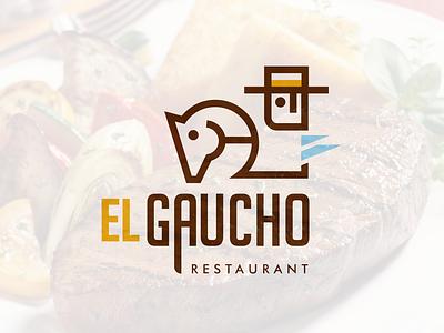 Gaucho 01 design icon vector type argentina gaucho restaurant marca logotipo typography branding