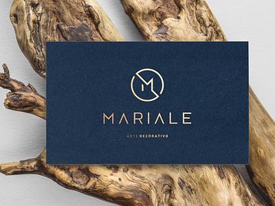 Identificador MARIALE Arte Decorativo card simbol art typography logo marca design icon logotipo branding