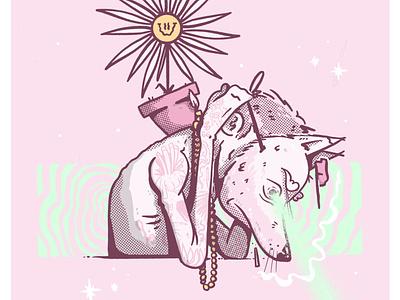Modo Recuperacion X Gavilan character cartel animal lowbrow poster procreate illustraton color artwork art