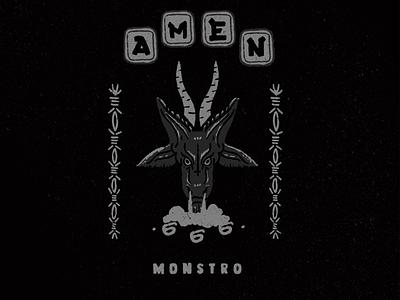 monstro monstro gavilan cover artwork 666 blackandwhite demon art poster artwork animal illustration coverart