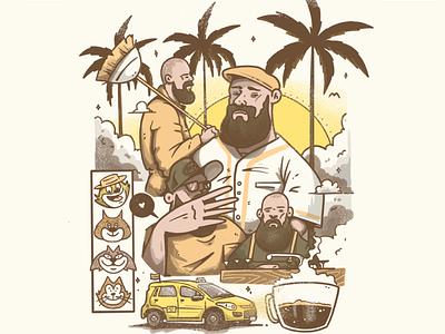 IV gatos Mc Ari Hiphop Colombia color art design cartel character artwork lowbrow illustration hip hop