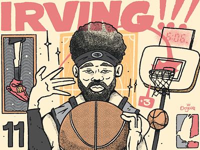 Kyrie  Irving NBA procreate portrait sports kyrie irving design cartel color character artwork lowbrow illustration basketball nba