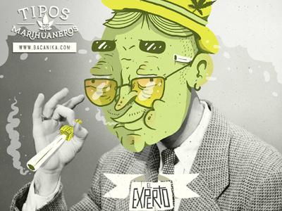 Tips Marihuaneros Bacanika El Experto Dribble Gavilan Gvln bacanika illustration collage weed marihuana