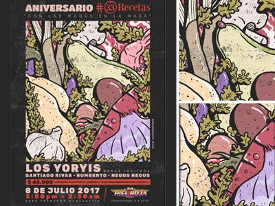 33recetas 1er Aniversaio  Gavilan Gvln cartel advocado aguacate illustration food cook