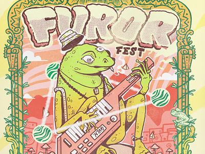 Furor Fest gig poster gigposter illustration animal
