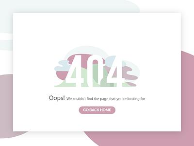 UI daily 008 - 404 Error pastel oops violet daily chalenge error 404 ux ui