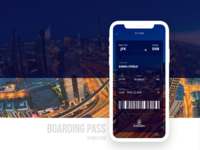 UI daily 024 - Boarding Pass