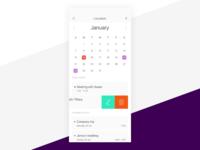 Ui Daily 038 - Calendar