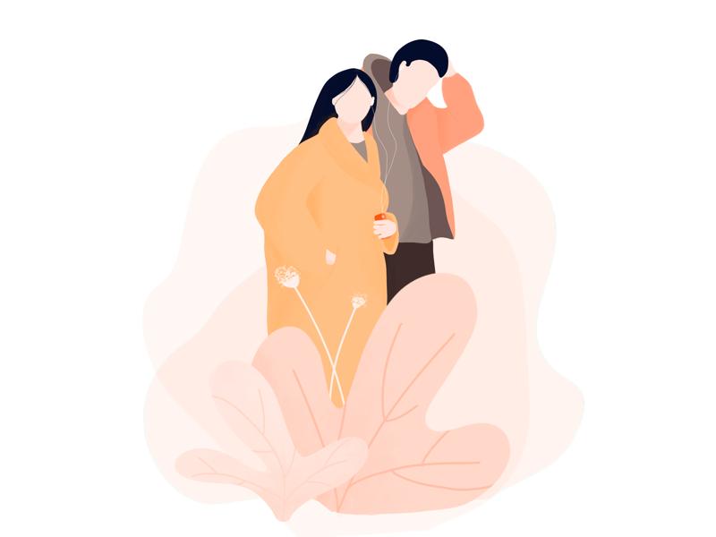 Illustration - Couple couple drawing procreate ui illustration