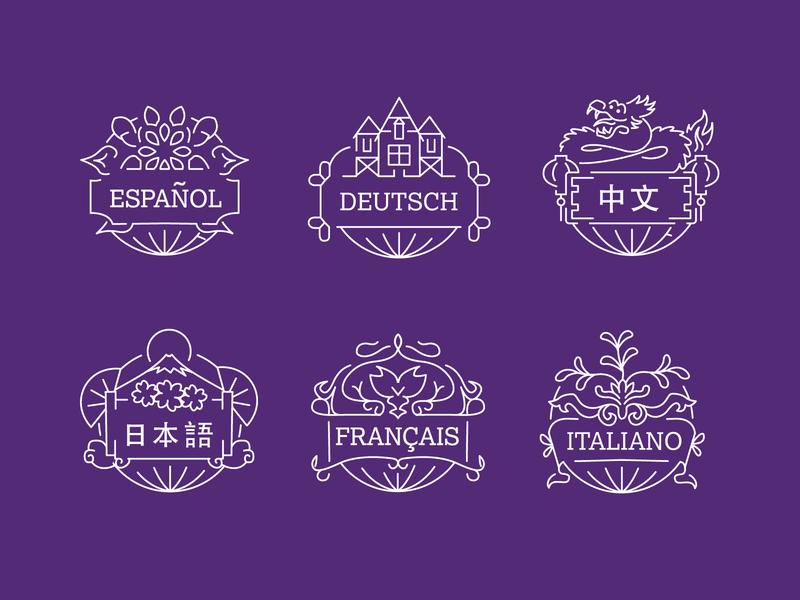 Language Course Illustrations