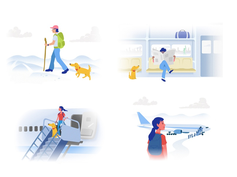Vector Illustrations for Financial Site
