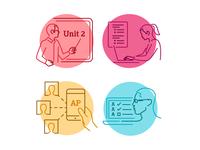 Education Line Illustrations