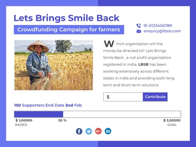 Crowdfunding Campaign 32th design for #dailyui #032