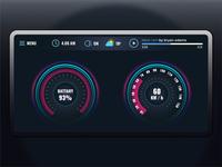 Car Interface Design 34th design for #dailyui #034
