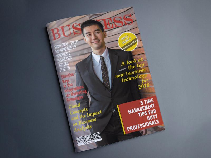 Business Magazine Concept typography adobe photoshop print design creative design design corporate magazine business magazine