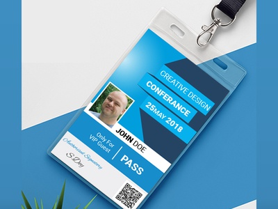 Conference Id Card Concept