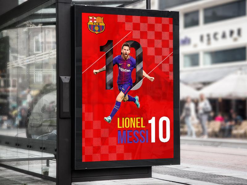 Lionel Messi Poster Design Concept billboard design poster design logo adobe photoshop creative design
