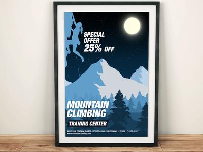 Mountain Climbing Poster Design Concept