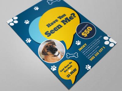 Lost Pet Flyer Design Concept