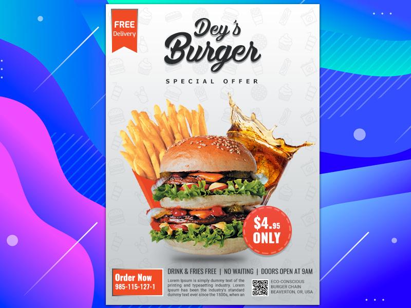 Food Flyer Design Concept offer flyer advertisment adobe illustrator illustration print design design adobe photoshop creative design flyer design food flyer design concept
