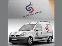Spry Air Fiber Internet Logo Concept