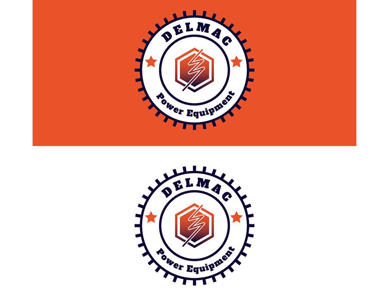 Delmac Power Equipment Logo Concept design logo design concept adobe photoshop logo illustration typography vector adobe illustrator creative design