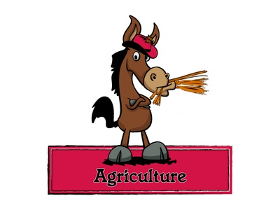 Mule standing on two legs agriculture Logo