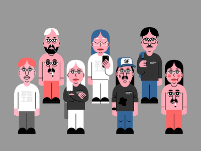 Factory Guys characters illustration