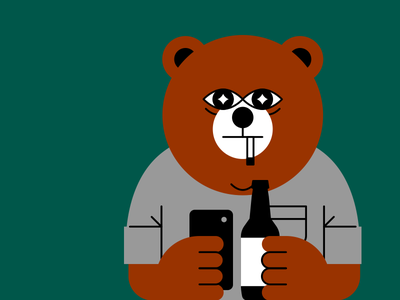 Bear Battya somethingfactory character beer bear