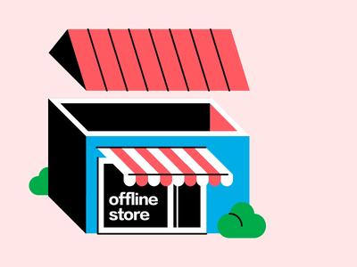 Offline Store somethingfactory building illustration shop store