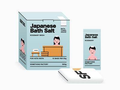 Japanese Bath Salt concept product branding box box design pack packages package package design packagedesign