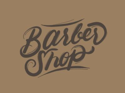 Barbershop lettering