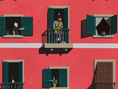 Quarantine in Barci digital illustrations illustration digital illustrations/ui illustrations procreate vector illustration ipadpro illustration art vector illustrations illustration design illustrator illustration vector illustration