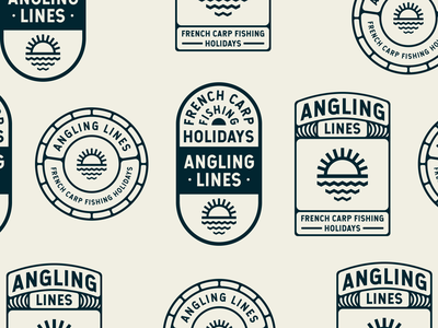 Branding variation for Angling Lines badge logo logo design badgedesign design branding badge design identity logo branding brand identity branding and identity