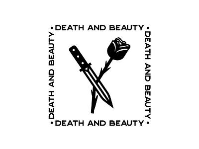 Death and Beauty tattoo design tattoo flash tattoo art tattoo tattoo illustration line illustration vintage badges vintage badge vintage font vintage logo vintage deus ex machina moto hipster logo hipster badgedesign badge logo badges badge design badge