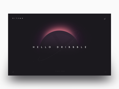 Hello Dribbble! website spaced eclipse stars space pink illustration hello dribbble astronaut