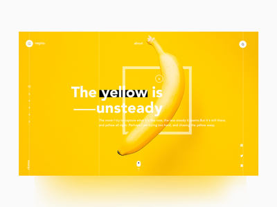 The Yello is unsteady - the color series#03 yellow video typography swiss minimal layout landing invite hello graphic composition clean