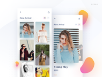 Fashion app - Catagories card view
