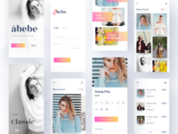 Fashion app - all screens