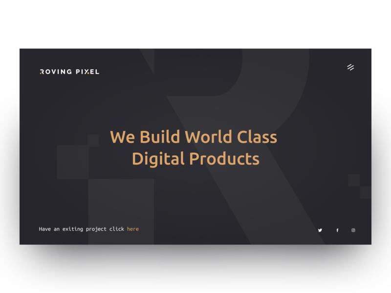 Rovinpixel - Portfolio landing typography swiss clean header minimal layout web ritzmo ui