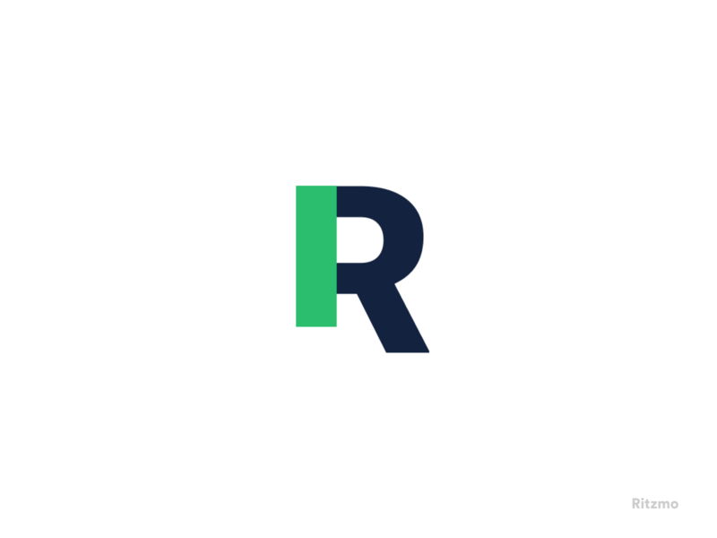 New Logo branding typography logo clean swiss gree minimal ritzmo