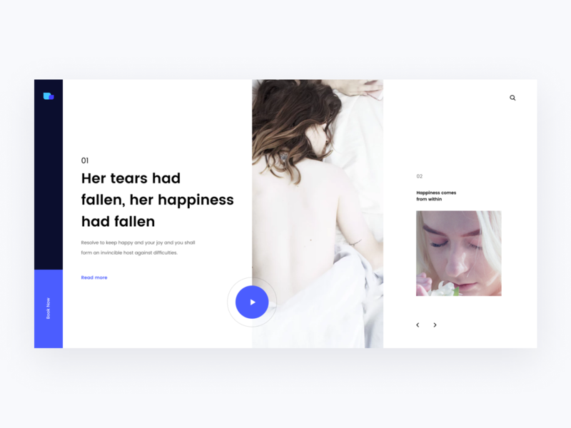 Happiness:) happiness ux composition typography header clean swiss minimal layout web ritzmo ui