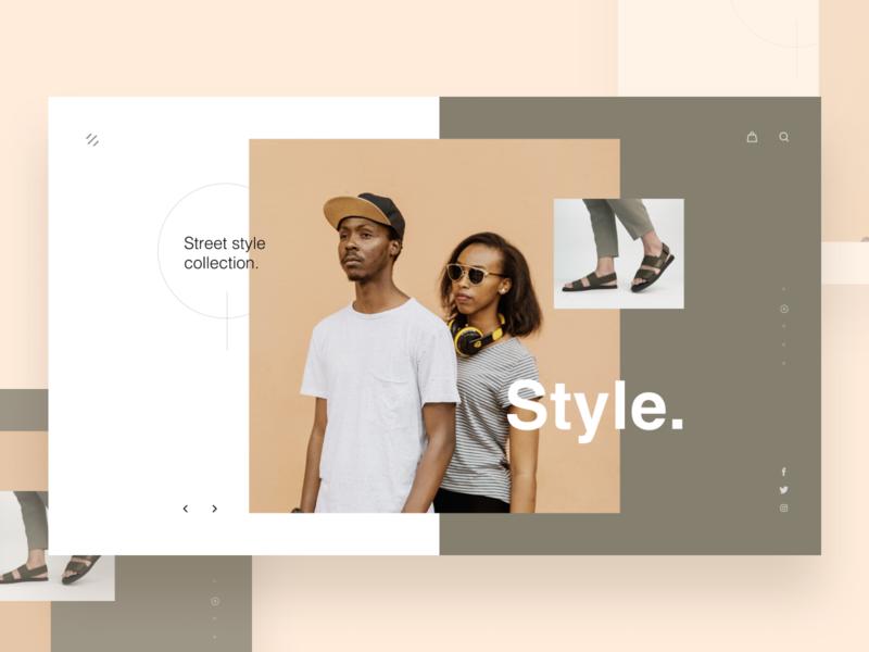 Style. ritzmo layout minimal ecommerce headphone footwear street fashion fashion style webheader ui
