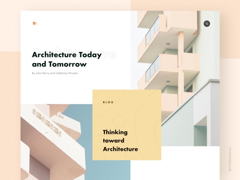 Architecture blog pale building architechture minimal layout web ritzmo ui