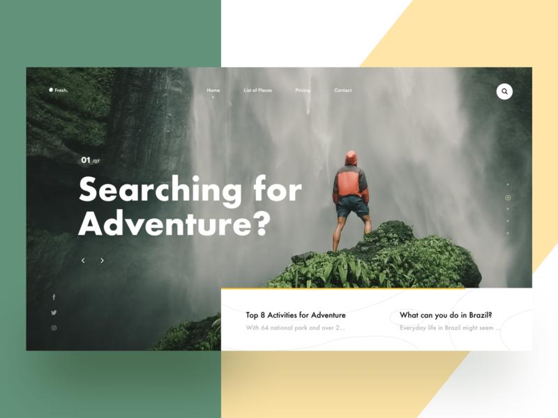 Adventure webheader adventure nature web layout ritzmo ui