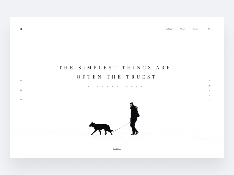 Minimalism II white snow nature futura graphic swiss ritzmo typography layout minimal composition clean